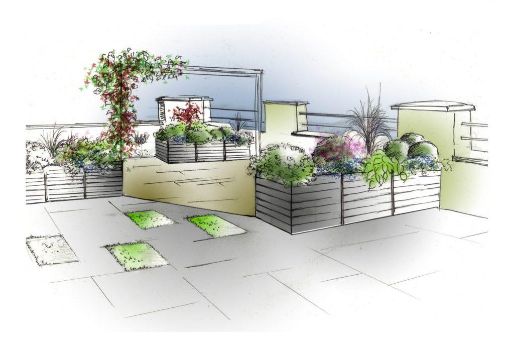 amenager une grande terrasse une grande terrasse avec plusieurs niveaux amnager une grande. Black Bedroom Furniture Sets. Home Design Ideas
