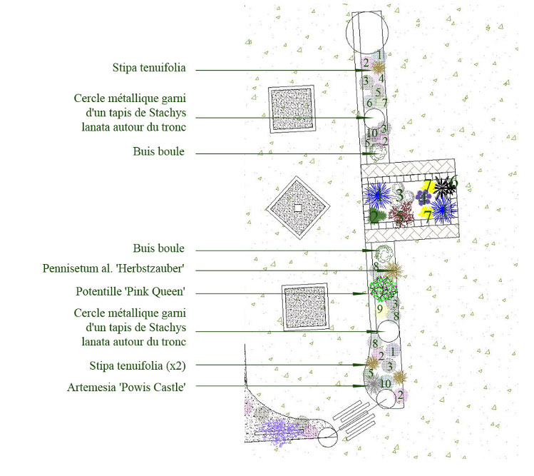 plan carré potager paysagiste paris