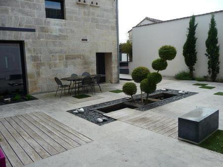 patio contemporain création de jardin