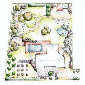 plan de jardin paysagiste