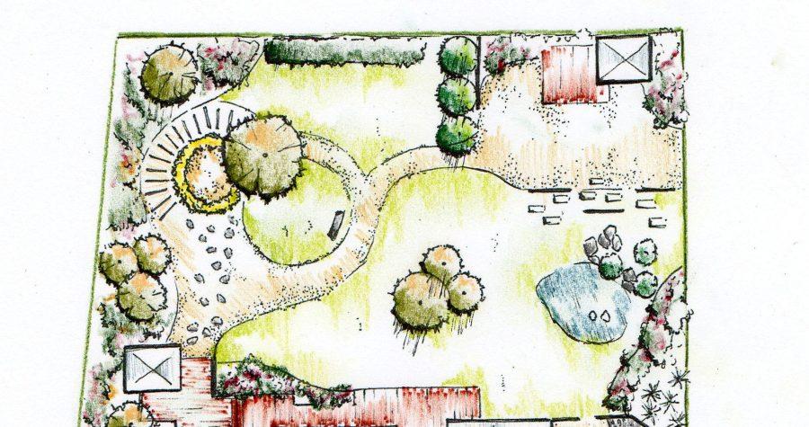 Plan de jardin comment faire dessiner votre jardin - Dessiner un plan de jardin ...
